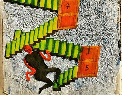 Illustrations for The Run, play by Mikhail Bulgakov