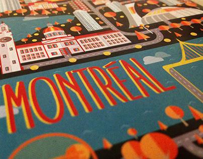 Montréal Guide - cover flat design.