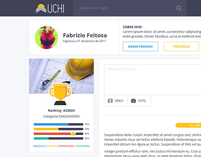 Layout PSD & HTML/CSS | Rede UCHI
