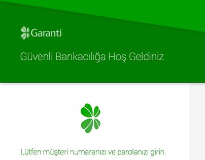 Garanti Bankası - Internet Banking (Redesign)