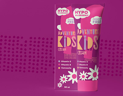 Adventure Kids cream packing