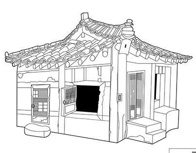 Korean Traditional House Play-set