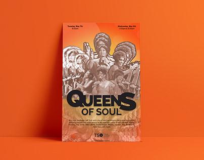 Queens Of Soul Poster Design