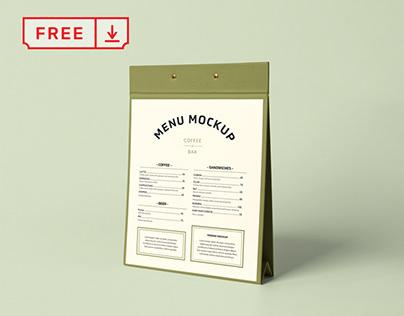 Free Menu Stand PSD Mockup