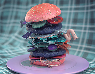 Surreal Food in Adobe Dimension