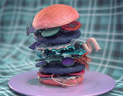 Surreal Food in Adobe Dimension