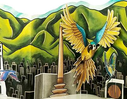 Caracas Skyline - El Avila