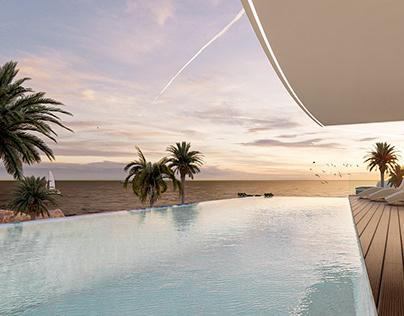 3D minimalist luxury home