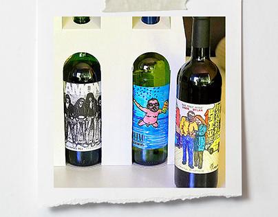 🍷 WINE LABEL / Wine labels drawn