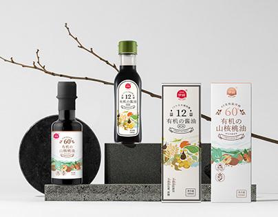 五克氮5gN︱山核桃油包装设计︱Edible oil ︱soy sauce packaging