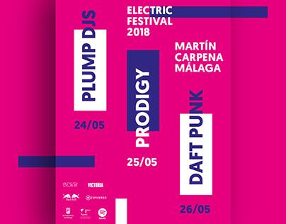 Carteles y merchandising para Electric Festival