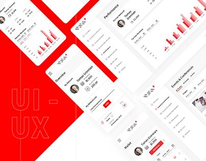 UX/UI Design for Affiliate App
