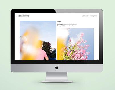 Webdesign Sarah Balhadère