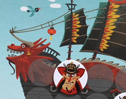 """Board game """"Pirate math"""""""