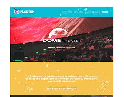 SM Exploreum Website UI/UX Design