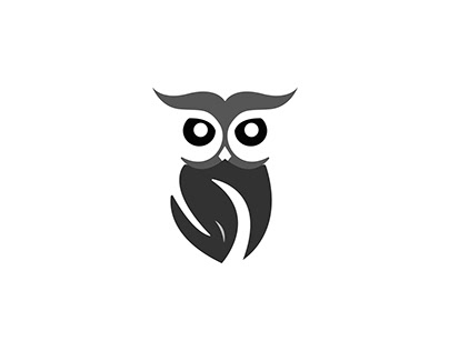 OWL MINIMAL BIRD LOGO DESIGN