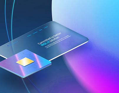 Computer Chip Startup Landing Page