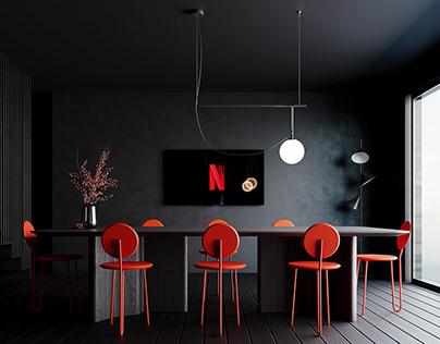 Black kitchen - CGI