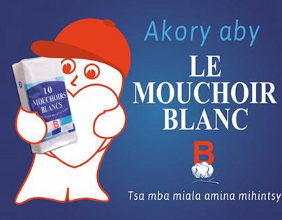 Création affiche 4x3 Mouchoirs Blancs
