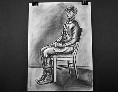 Charcoal drawings 2016 Feb.