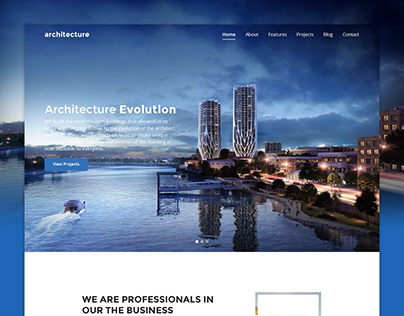 Architecture - Retina Responsive Landing Page