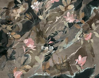 'Botanical Olive' print for Oysho AW20