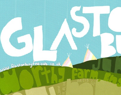 Glastonbury Poster & Invite Card