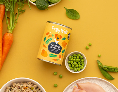 Petty well - Dog food branding and packaging