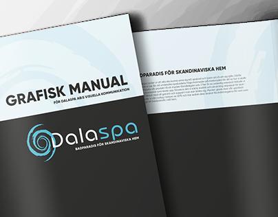 Dalaspa logotype, graphic profile and brochures