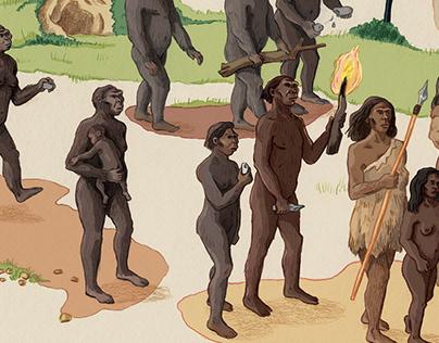 Curionautes de sciences – L'évolution des hominidés