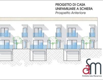 Progetto di casa unifamiliare a schiera on behance - Casa a schiera progetto ...