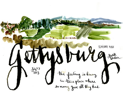 Gettysburg with a sketchbook