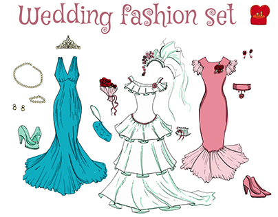 Wedding fashion set