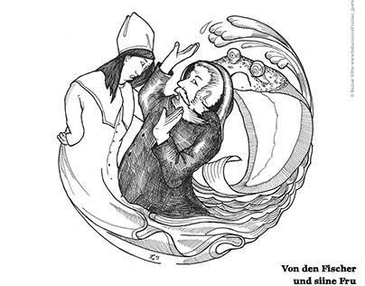 """Märchen für Oktober """"Von den Fischer und siin Fru"""""""
