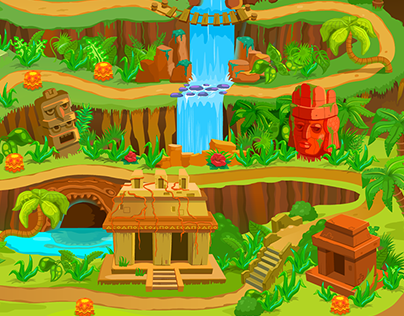 Series of backgrounds for a web game