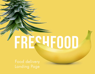 FreshFood - Food delivery landing Page
