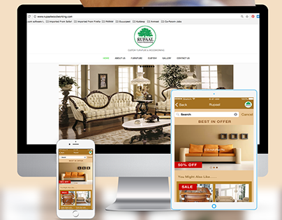Rupaal Furniture- UX/UI Mobile App, Logo, Website