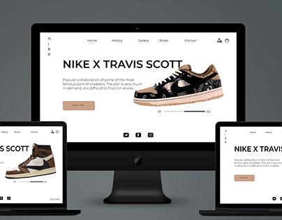 "Design prototype ""Nike x Travis Scott"""