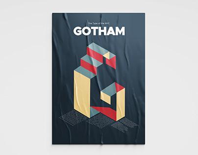 Gotham Typeface Poster