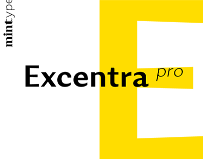 Excentra Pro Typeface
