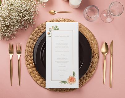 Menu Card - 'Blooming Bouquet'