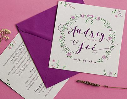 Audrey & Joé Wedding Stationery
