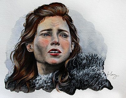 Ygritte the Wildling   Mixed Media Painting