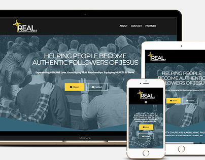Real Community Church Branding. Web Design & Dev.