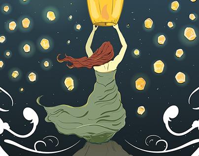 """Light The Sky "" Poster design"