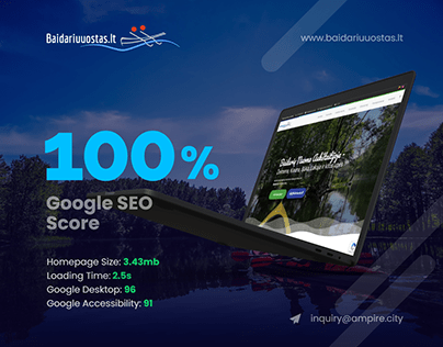 Water Outdoors - Responsive Website with Unique Design
