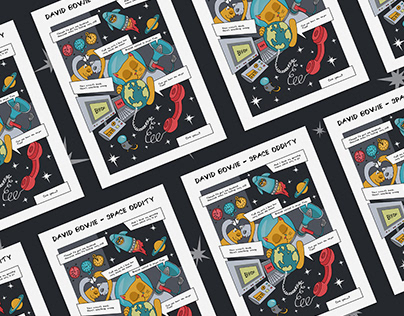 SPACE ODDITY | Comic For David Bowie's Album