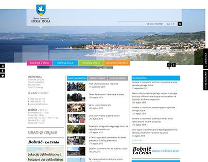 Občina Izola website