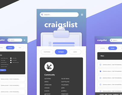 Craigslist Smooth UI Concept