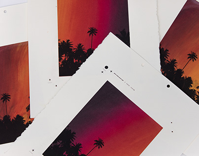 Sunset Screenprinted posters